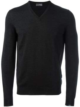 Drumohr v neck fine knit jumper