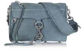Rebecca Minkoff Women's Blue Suede Shoulder Bag. - BLUE - STYLE