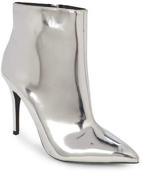 Wild Diva Silver Akira Pointed Toe Ankle Booties