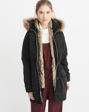 Abercrombie & Fitch 3-In-1 Faux Shearling Lined Parka