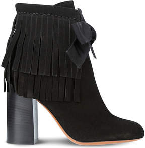 Etro Fringe suede heeled ankle boots