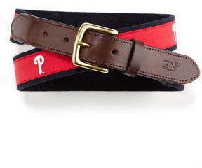 Vineyard Vines Philadelphia Phillies Canvas Club Belt