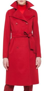 Akris Cashmere-Blend Belted Coat