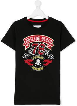 Philipp Plein Junior TEEN racer print T-shirt