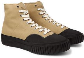 Maison Margiela Rubber-Trimmed Cotton-Canvas High-Top Sneakers