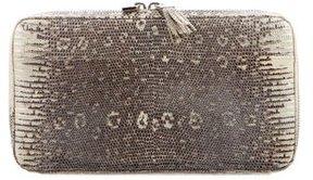 Lambertson Truex Metallic Lizard Zip Around Wallet
