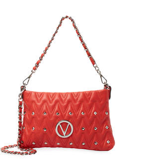 Mario Valentino Valentino by Women's Vanilled Sauvage Leather Shoulder Bag