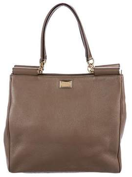 Dolce & Gabbana Leather Miss Sicily Tote