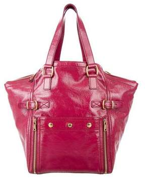 Saint Laurent Patent Leather Downtown Bag - PINK - STYLE