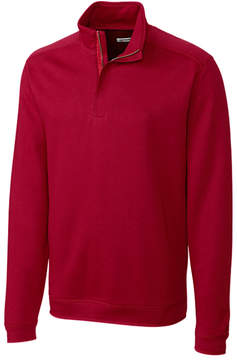 Cutter & Buck Red Decatur Half-Zip Pima-Blend Jacket - Men