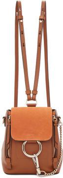 Chloé Tan Mini Faye Backpack