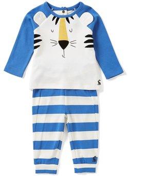 Joules Baby Boys Newborn-12 Months Mack Tiger Top & Striped Pants Set