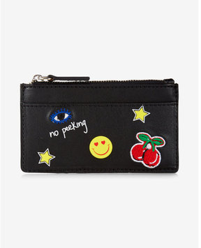 Express Embroidered Patch Credit Card Holder