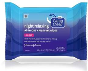 Clean & Clear® Night Relaxing All-in-One Cleansing Wipes- 25 Ct