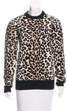 Celine Wool-Blend Intarsia Sweater