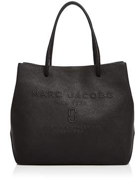 Marc Jacobs Logo East/West Leather Tote - BLACK - STYLE