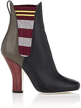 Fendi Women's Contrast-Gore Leather Chelsea Boots