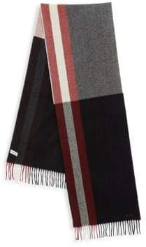 Bally Fringed Wool Scarf