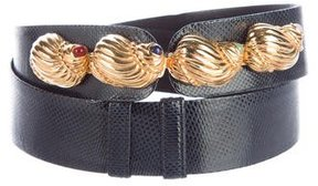 Judith Leiber Lizard Embellished Belt