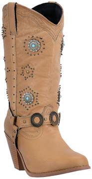 Dingo Chestnut Leather Embellished Cowboy Boot - Women