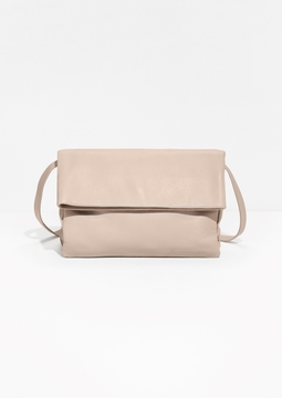 Fold-Over Leather Crossbody