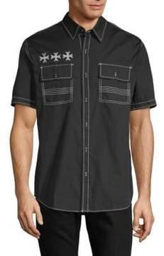 Affliction Ruminate Cotton Button-Down Shirt