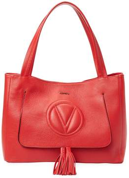 Mario Valentino Valentino by Women's Leather Tassel Tote