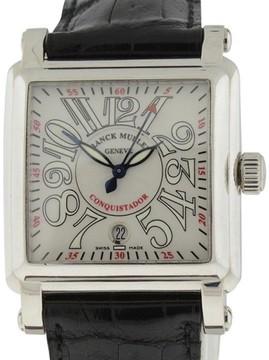 Franck Muller Conquistador Cortez 18K White Gold 45mm Mens Watch