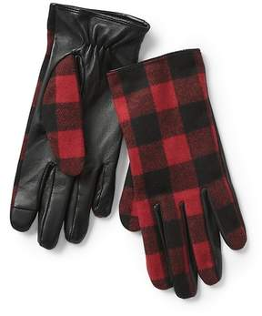 Gap Plaid leather gloves