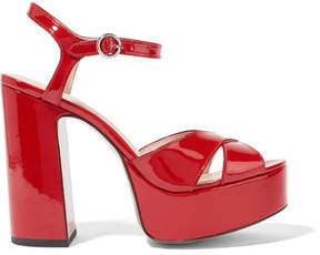 Marc Jacobs Lust Patent-leather Platform Sandals - Red