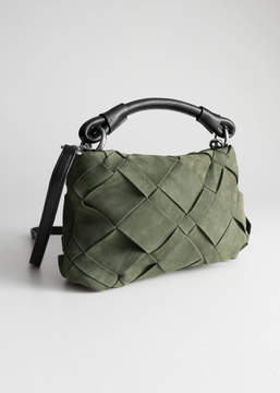 And other stories Braided Suede Crossbody Bag