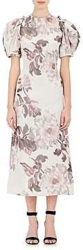 Brock Collection Women's Floral Taffeta Midi-Dress