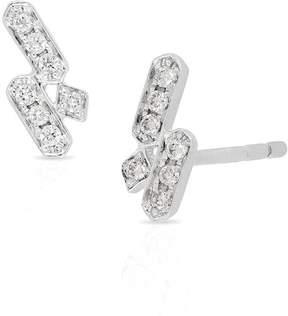 Bony Levy 18K White Gold Round & Square Diamond Cluster Stud Earrings