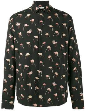 Saint Laurent flamingo print shirt
