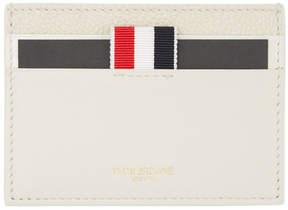 Thom Browne Beige Multi Leather Card Holder