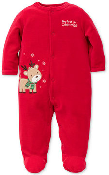 Little Me 1-Pc. Reindeer Footed Coverall, Baby Boys (0-24 months)