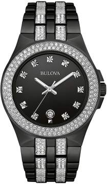 Bulova Men's Crystal Stainless Steel Watch - 98B251
