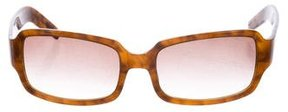 Diane von Furstenberg Rectangle Tortoiseshell Sunglasses
