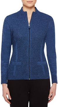 Allison Daley Mock-Neck Zip Front Cardigan