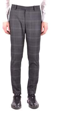 Hosio Men's Grey Viscose Pants.