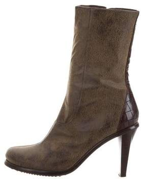 Donald J Pliner Leather Round-Toe Ankle Boots