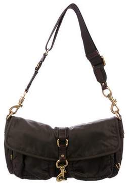 Miu Miu Leather-Trimmed Tessuto Bag