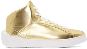 Versace Gold Back Medusa Head High-Top Sneakers