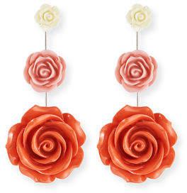 Dannijo Beck Triple Flower Drop Earrings