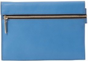 Victoria Beckham Blue Leather Clutch Bag