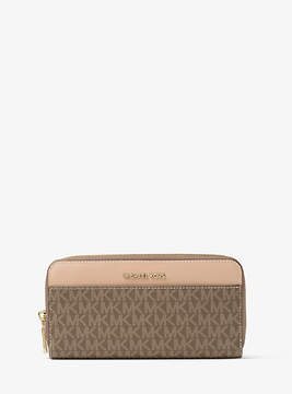 Michael Kors Jet Set Logo Continental Wallet - BROWN - STYLE