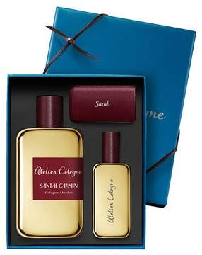 Atelier Cologne Santal Carmin Cologne Absolue, 200 mL with Personalized Travel Spray, 1.0 oz./ 30 mL