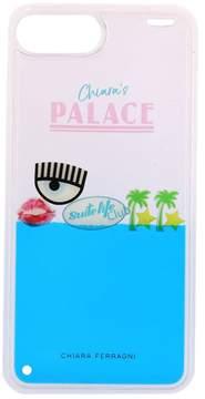 Chiara Ferragni Case Chiara's Palace Iphone 8 Plus Case In Rubber With Moving Liquid