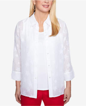 Alfred Dunner America's Cup Layered-Look Top
