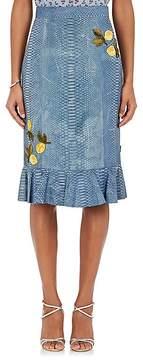 Altuzarra Women's Benson Embellished Python Pencil Skirt
